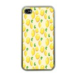 Pattern Template Lemons Yellow Apple iPhone 4 Case (Clear) Front