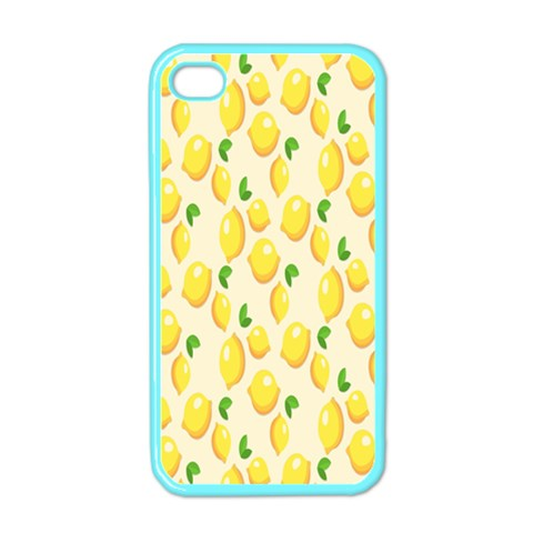 Pattern Template Lemons Yellow Apple iPhone 4 Case (Color)