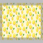 Pattern Template Lemons Yellow Deluxe Canvas 24  x 20   24  x 20  x 1.5  Stretched Canvas