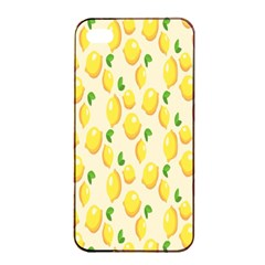 Pattern Template Lemons Yellow Apple iPhone 4/4s Seamless Case (Black)