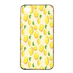 Pattern Template Lemons Yellow Apple iPhone 4/4s Seamless Case (Black) Front