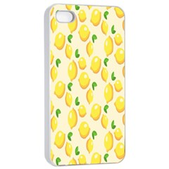 Pattern Template Lemons Yellow Apple iPhone 4/4s Seamless Case (White)
