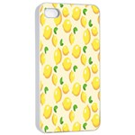 Pattern Template Lemons Yellow Apple iPhone 4/4s Seamless Case (White) Front