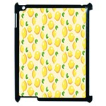 Pattern Template Lemons Yellow Apple iPad 2 Case (Black) Front