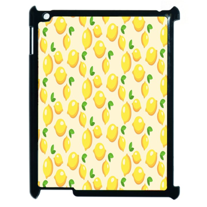 Pattern Template Lemons Yellow Apple iPad 2 Case (Black)