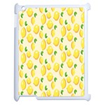 Pattern Template Lemons Yellow Apple iPad 2 Case (White) Front