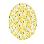 Pattern Template Lemons Yellow Oval Filigree Ornament (2-Side)  Front