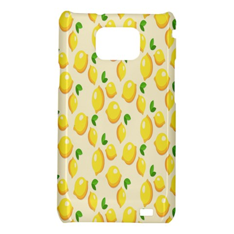 Pattern Template Lemons Yellow Samsung Galaxy S2 i9100 Hardshell Case