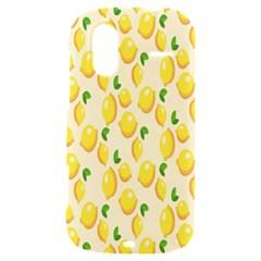 Pattern Template Lemons Yellow HTC Amaze 4G Hardshell Case