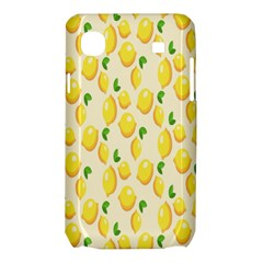 Pattern Template Lemons Yellow Samsung Galaxy SL i9003 Hardshell Case