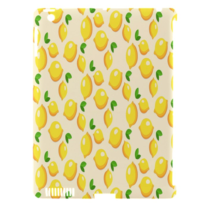Pattern Template Lemons Yellow Apple iPad 3/4 Hardshell Case (Compatible with Smart Cover)