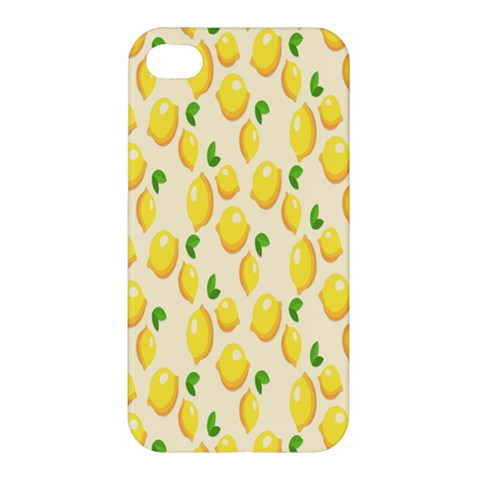 Pattern Template Lemons Yellow Apple iPhone 4/4S Premium Hardshell Case