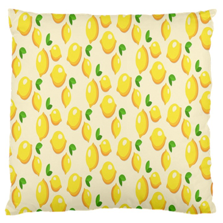 Pattern Template Lemons Yellow Large Cushion Case (One Side)
