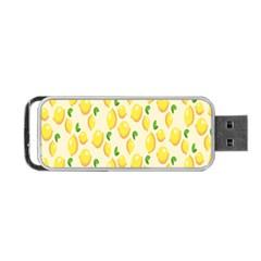 Pattern Template Lemons Yellow Portable USB Flash (One Side)