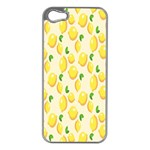 Pattern Template Lemons Yellow Apple iPhone 5 Case (Silver) Front