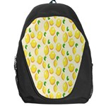 Pattern Template Lemons Yellow Backpack Bag Front