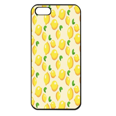 Pattern Template Lemons Yellow Apple iPhone 5 Seamless Case (Black)