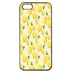 Pattern Template Lemons Yellow Apple iPhone 5 Seamless Case (Black) Front