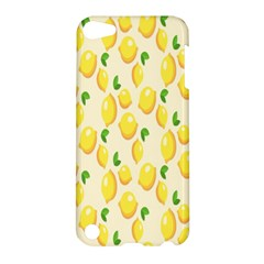 Pattern Template Lemons Yellow Apple iPod Touch 5 Hardshell Case