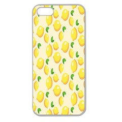 Pattern Template Lemons Yellow Apple Seamless iPhone 5 Case (Clear)