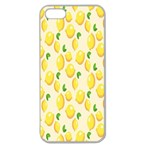 Pattern Template Lemons Yellow Apple Seamless iPhone 5 Case (Clear) Front