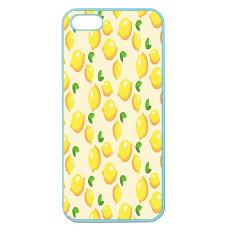 Pattern Template Lemons Yellow Apple Seamless iPhone 5 Case (Color)