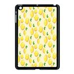 Pattern Template Lemons Yellow Apple iPad Mini Case (Black) Front
