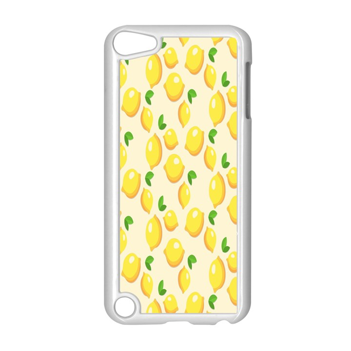 Pattern Template Lemons Yellow Apple iPod Touch 5 Case (White)