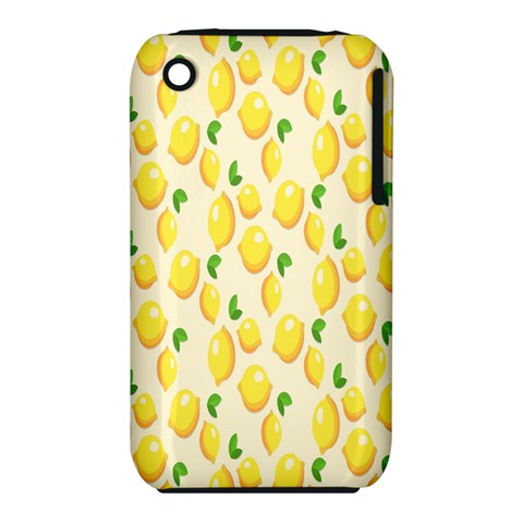 Pattern Template Lemons Yellow Apple iPhone 3G/3GS Hardshell Case (PC+Silicone)