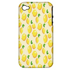 Pattern Template Lemons Yellow Apple iPhone 4/4S Hardshell Case (PC+Silicone)