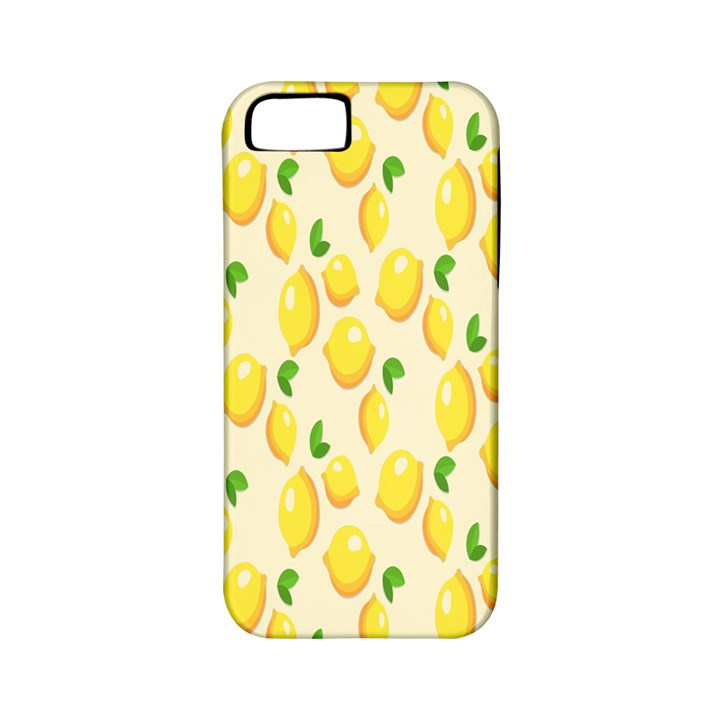 Pattern Template Lemons Yellow Apple iPhone 5 Classic Hardshell Case (PC+Silicone)