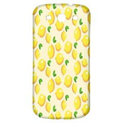 Pattern Template Lemons Yellow Samsung Galaxy S3 S III Classic Hardshell Back Case