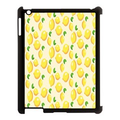 Pattern Template Lemons Yellow Apple iPad 3/4 Case (Black)