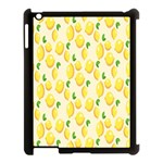 Pattern Template Lemons Yellow Apple iPad 3/4 Case (Black) Front