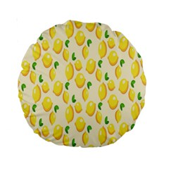 Pattern Template Lemons Yellow Standard 15  Premium Round Cushions
