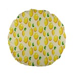 Pattern Template Lemons Yellow Standard 15  Premium Round Cushions Back