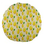 Pattern Template Lemons Yellow Large 18  Premium Round Cushions Front