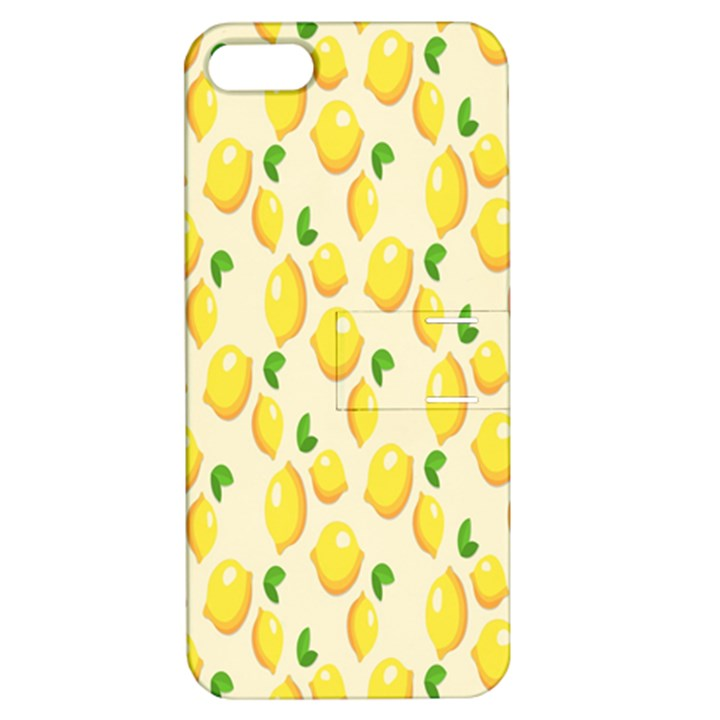 Pattern Template Lemons Yellow Apple iPhone 5 Hardshell Case with Stand