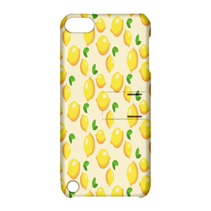Pattern Template Lemons Yellow Apple iPod Touch 5 Hardshell Case with Stand