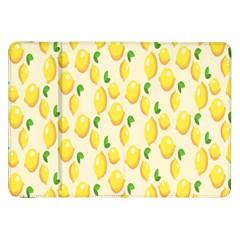 Pattern Template Lemons Yellow Samsung Galaxy Tab 8.9  P7300 Flip Case