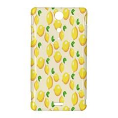 Pattern Template Lemons Yellow Sony Xperia TX