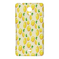 Pattern Template Lemons Yellow Sony Xperia T