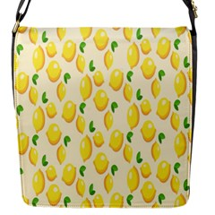 Pattern Template Lemons Yellow Flap Messenger Bag (S)