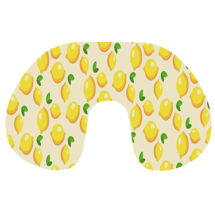 Pattern Template Lemons Yellow Travel Neck Pillows
