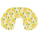 Pattern Template Lemons Yellow Travel Neck Pillows Back