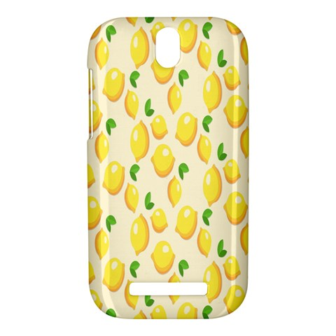 Pattern Template Lemons Yellow HTC One SV Hardshell Case