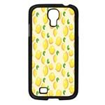 Pattern Template Lemons Yellow Samsung Galaxy S4 I9500/ I9505 Case (Black) Front