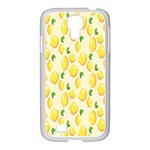 Pattern Template Lemons Yellow Samsung GALAXY S4 I9500/ I9505 Case (White) Front