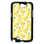 Pattern Template Lemons Yellow Samsung Galaxy Note 2 Case (Black) Front