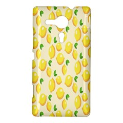 Pattern Template Lemons Yellow Sony Xperia SP